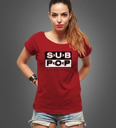 Reverbcity Shop - Camisetas/T-shirts Sub Pop Records - Fem