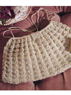 Crochet Accessories - Crochet Purse Patterns - Raised Shell Bag Free Crochet Pattern