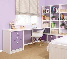 lila Mädchenzimmer-Schreibtisch Ideen