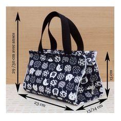 Tuto couture PDF patrons et explications du sac Capucine 3 tailles DIY - Sac Week End, Diy Bags Purses, Bag Patterns To Sew, Pdf Patterns, Craft Bags, Patchwork Bags, Fabric Bags, Diaper Bag, Pouch