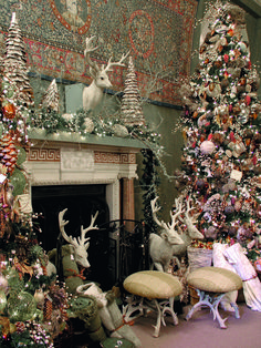 Lavishly decorated trees are a tradition at Filoli and are placed throughout the house.