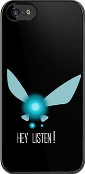 iPhone case, Navi Hey Listen!! (Zelda) by CalvertSheik