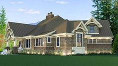 <ul><li>This Craftsman house plan will wow you with its magnificent curb appeal.</li><li>The metal roofing and decorative wood trim draw your eyes as you approach the house.</li><li>A flex room off the foyer gives you options should you want a formal dining room.</li><li>Built-ins, window seats and vaulted and tray ceilings make this home special.</li><li>Notice the sliding barns doors on the walk-in pantry off th...