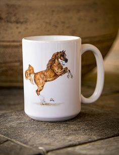 Enzo Arabian Horse Art 15oz Mug