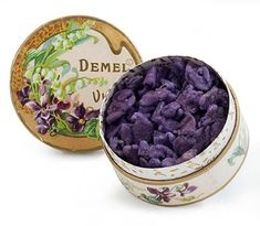 Yes. I would like some candied violets right now, thank you. duchessmarquise: Demel's Violet blossom leaves candied in sugar! Very old-fashioned treat! Demel was founded in 1786!