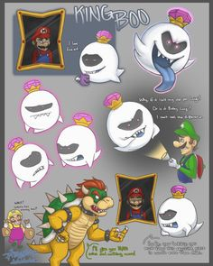 King Boo by Phageous on DeviantArt Mario And Luigi Games, Super Mario And Luigi, Super Mario Art, Super Mario Brothers, Mario Bros., Super Mario Bros Nintendo, Nintendo Games, Mario Comics, Mario Fan Art