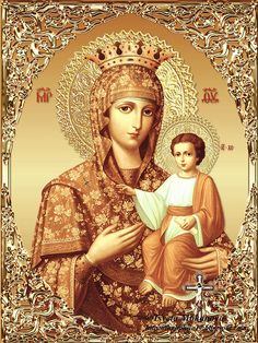 Religious Images, Religious Icons, Religious Art, Orthodox Catholic, Orthodox Prayers, Blessed Mother Mary, Blessed Virgin Mary, Christian Mysticism, Jesus E Maria
