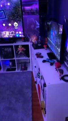 Gamer Bedroom, Bedroom Setup, Room Ideas Bedroom, Computer Gaming Room, Gaming Room Setup, Best Gaming Setup, Cool Gaming Setups, Gamer Setup, Pc Setup
