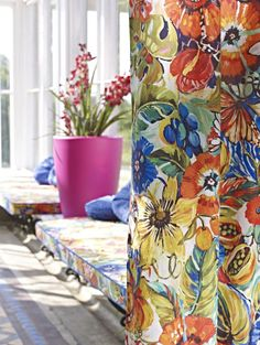 Prestigious Textiles have been designing beautiful interior fabrics and wallpapers for over 30 years. Choose from the UK's widest range of upholstery, cushion and curtain fabrics. Autumn Interior, Prestigious Textiles, Fabric Suppliers, Tropical Garden, Exotic Flowers, Soft Colors, Colorful Decor, Mardi Gras, Tiki Tiki