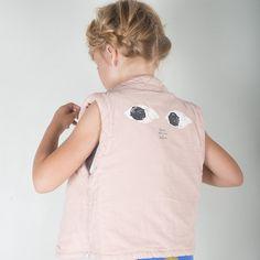 Bobo Choses Mr Peep Pink Waistcoat - limited sizes left