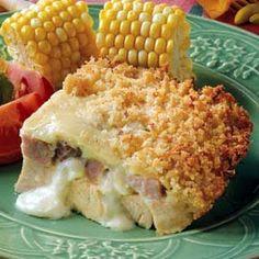 Leftover Turkey Cordon Bleu Casserole