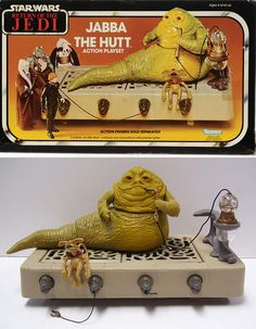 Jabba the Hutt Action Playset by Kenner - Neues Spielzeug Toy Art, Retro Toys, Vintage Toys, Childhood Toys, Childhood Memories, Figuras Star Wars, Jabba The Hutt, Old School Toys, Star Wars Action Figures
