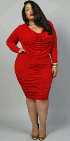 Looks plus size para festa Dresses For Big Bust, Plus Size Red Dress, Big Size Dress, Look Plus Size, Curvy Plus Size, Plus Size Dresses, Plus Size Outfits, Plus Size Women, The Dress