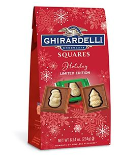 Ghirardelli Chocolate Squares Milk and White Holiday Impressions Bag oz. Ghirardelli Chocolate Squares, Gourmet Recipes, Snack Recipes, Holiday Time, Balanced Diet, Pop Tarts, Stocking Stuffers, Milk, Candy
