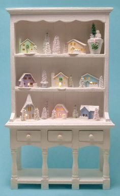 How To Light a Putz House, Glitter House or other sort of cardboard display. LED Lighting Tutorial for Glitter Houses Miniature Christmas, Christmas Home, Vintage Christmas, Christmas Crafts, Christmas Decorations, Snowflake Decorations, Christmas Glitter, Small Led Lights, Miniature Rooms