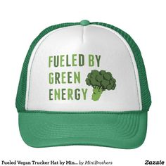Fueled Vegan Trucker Hat by Mini Brothers