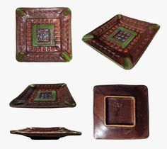 Aldo Londi for Bitossi 'Italy' Terracotta Ashtray/Art Pottery with fine incised decoration . (Sold)