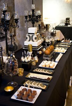 Party Theme ● Art Deco Dessert Table