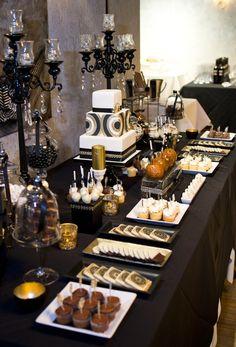 Party Theme ● Art Deco Dessert Table