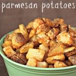 roasted parmesan potatoes. I added onions to the mix as well. So delish!!