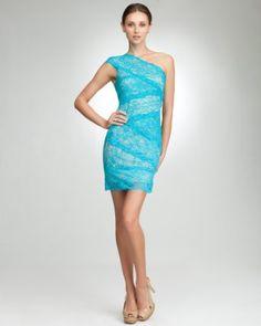 Bebe Peacock Blue Dress -- sooo pretty <3