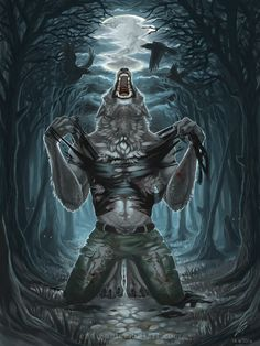 I wanted to draw something different for a change so I asked my friend what I should draw. He suggested a sinister picture of a werewolf! Howl of the Beast Creatures Of The Night, Weird Creatures, Magical Creatures, Dark Artwork, Vampires And Werewolves, Epic Art, Wolf Tattoos, Monster Art, Bad Wolf