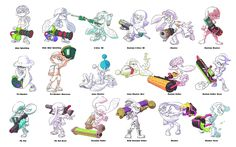 File:Art of main weapons in Splatoon set - Inkipedia, the Splatoon wiki Splatoon 2 Game, Splatoon Comics, Splatoon Memes, Fighting Poses, Game Props, Book Projects, Drawing Reference, Drawing Tips, Lovers Art