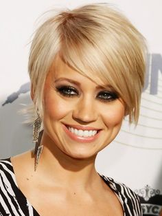 Einfache, kurze, blonde Frisuren: Kimberly Wyatt Hair - My list of women's hairstyles Short Straight Hair, Short Hair Styles Easy, Short Hair Cuts, Thin Hair, Pixie Cuts, Thin Blonde Hair, Blonde Pixie Hair, Platinum Blonde, Long Hair