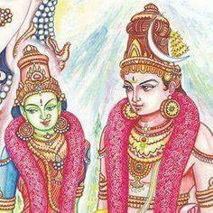 Devi Meenakshi and Sundareswar Lord Shiva Painting, Ganesha Painting, Tanjore Painting, Shiva Yoga, Shiva Shakti, Shiva Art, Hindu Art, Rudra Shiva, Saraswati Goddess