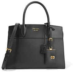 Prada Esplanade large smooth and textured-leather tote (62 965 UAH) ❤ liked on Polyvore featuring bags, handbags, tote bags, prada tote, structured tote, crossbody purses, zippered tote bag and travel pouch