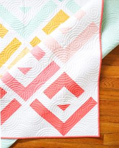 Cabin Valley by Cotton and Joy - long arm quilting detail Modern Quilt Patterns, Easy Quilts, Longarm Quilting, Quilting Designs, Things To Come, Cabin, Joy, Detail, Cotton