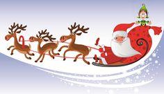 Cartoon santa claus and elk vector Free Vector / Christmas Books For Kids, Modern Christmas Cards, A Christmas Story, Christmas Art, Winter Christmas, Merry Christmas Wishes, Christmas Events, Christmas Countdown, Merry Xmas