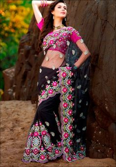 #Saree - #SAREES - #jabongworld #indianethnic #ethnic #sattika #indiansaree