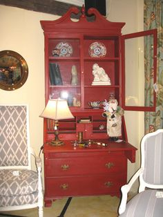 Vintage mahogany Secretary painted in Emperor's Silk Chalk Paint®