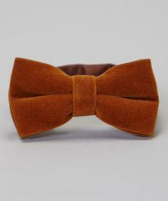 Loving this Brown Velvet Bow Tie on #zulily! #zulilyfinds