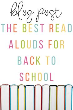 Are you looking for the best read alouds for back to school?  Look no further!  I have compiled a list of great read alouds for back to school.  These include rules and expectations, anxiety, kindness, writing, and so much more!  Be sure to check it out!