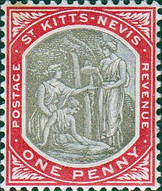 1905 St Kitts - Nevis Medicinal Springs SG 2 Fine Mint SG 2 Scott 2 Other Old Stamps for sale here Buy Stamps, Postage Stamp Art, September 2014, Stamp Collecting, Coat Of Arms, Central America, St Kitts And Nevis, Printmaking, Postcards