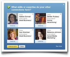 Los endorsements de LinkedIn y la búsqueda de la mejora de la calidad de los contactos en la red