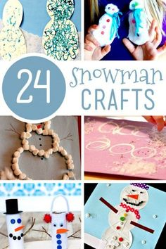 24 cute snowman crafts for kids to make