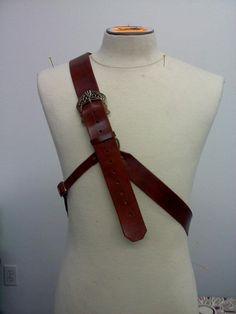 Sword sheath, over the shoulder
