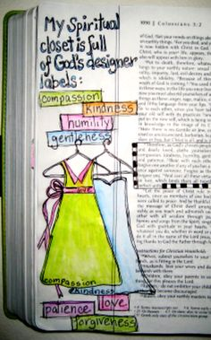 Love this illustration for a Bible Journal or Journaling Bible