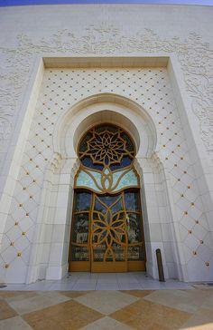 Grand Mosque Door, via Flickr.