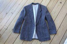 Tweed Wool Blazer // S / M (36/38) // Vintage // Mens Jacket // Harris Tweed // Classic Traditional Ivy Wasp // Steven Alan on Etsy, 38,22€