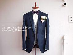 結婚式当日だけの衣装ってもったいない!ロブザーコは式後も着用できる衣装をお創りしております皆様こんにちは。今までとは一味違うフォーマルを変幻自在に操るコーディネートで、晴れ舞台に相応しい新郎様タキシードをご提案してお