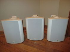 Lot of 3 Niles OS10 OS-10 INDOOR/OUTDOOR Speakers White #Niles