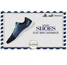 Paytm EID Sports Shoes Sale Offer : Extra 60% Cashback on Sports Shoes - Best Online Offer