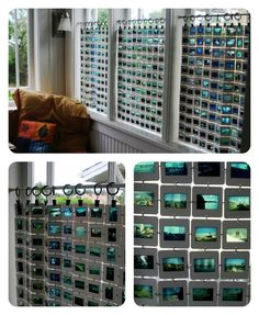 A Different Take on DIY Curtains - this is totally awesome! I want to do this so bad now!