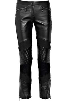 Motocross Jeans For Women | Versace Leather suede-paneled motocross pants - Clothes Fashion