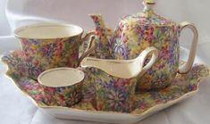 Royal Winton 'Wild Flowers'  breakfast set.