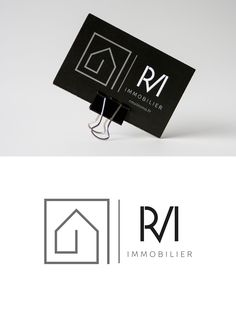Carte de visite et logo de RMV Immo, conseillère en immobilier à Toulouse - graphiste Toulouse Packaging Design, Branding Design, Logo Design, Graphic Design, Architect Logo, Coffee Cup Design, Name Card Design, Real Estate Logo, Home Logo